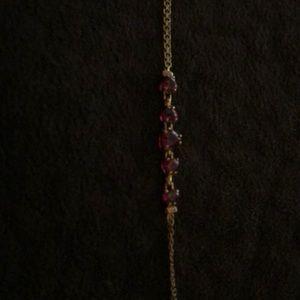 Gold/ruby bracelet. Bnwot.
